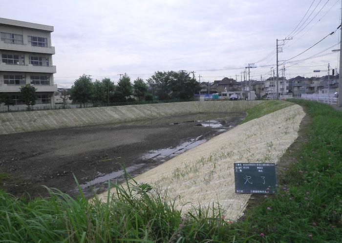 市川市国分調節池掘削工事